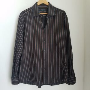 Other - Men's Italian Striped Button Down Dress Shirt XXL